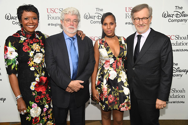 George Lucas and Mellody Hobson honoured by USC Shoah Foundation