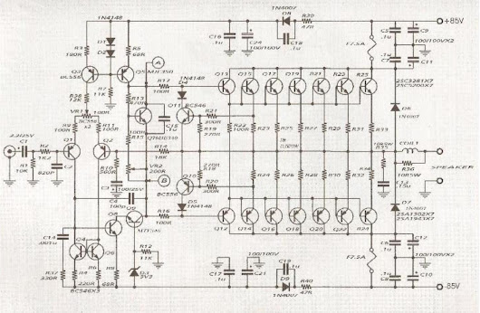 600w audio amplifier circuit with 2sc5200 2sa1943 600w