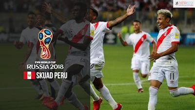Skuad Susunan Pemain Peru di Piala Dunia 2018