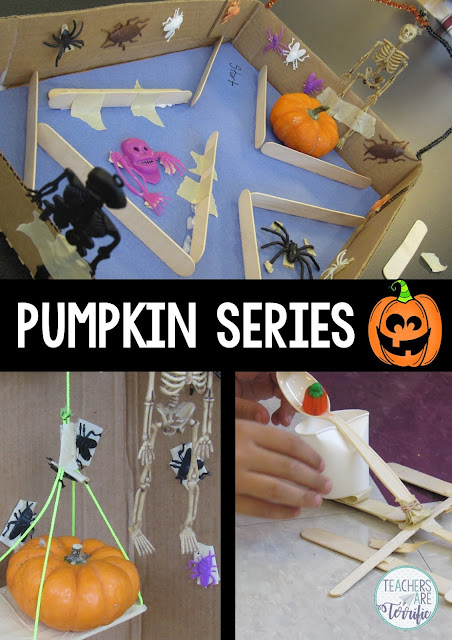STEM Challenge Trio: Three fabulous challenges all about Halloween, pumpkins, and the month of October! Each can be used at any time of year, too!