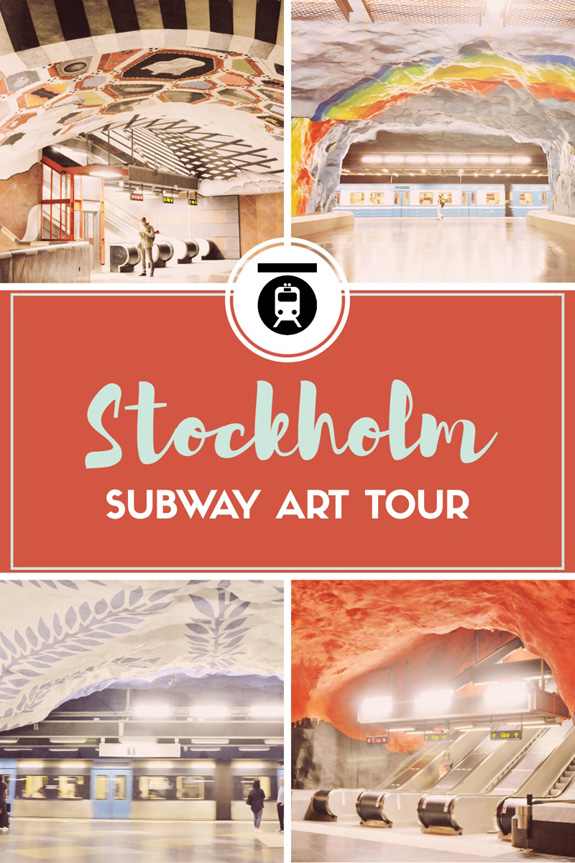 stockholm subway art tour