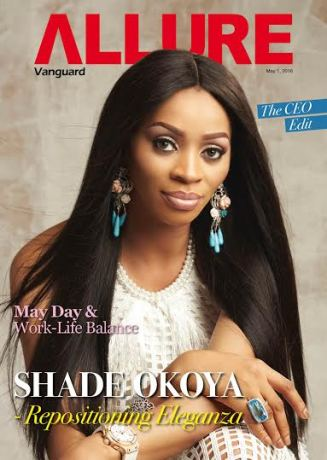 Shade Okoya looks stunning as she graces Vanguard Allure cover