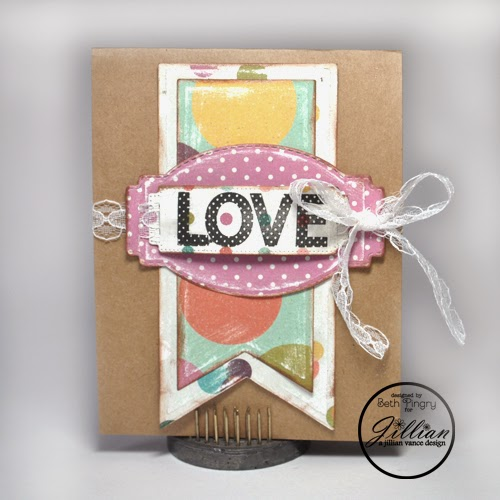 Love Dots card by Beth Pingry