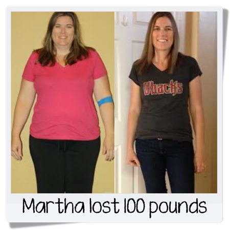 Martha's before and after weight loss photos