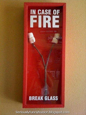 In case of fire break glass - Marshmallows