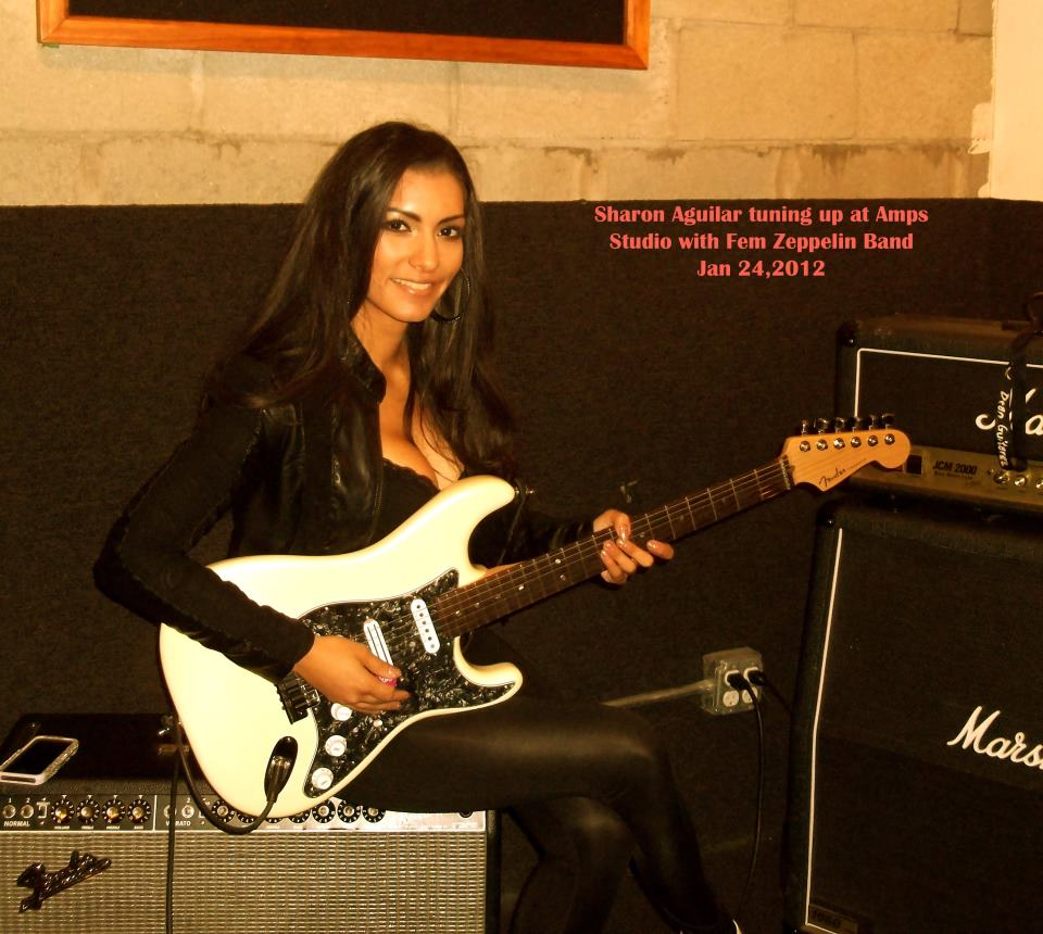 Sharon Aguilar Fem Zeppelin And Celo Green Guitarist