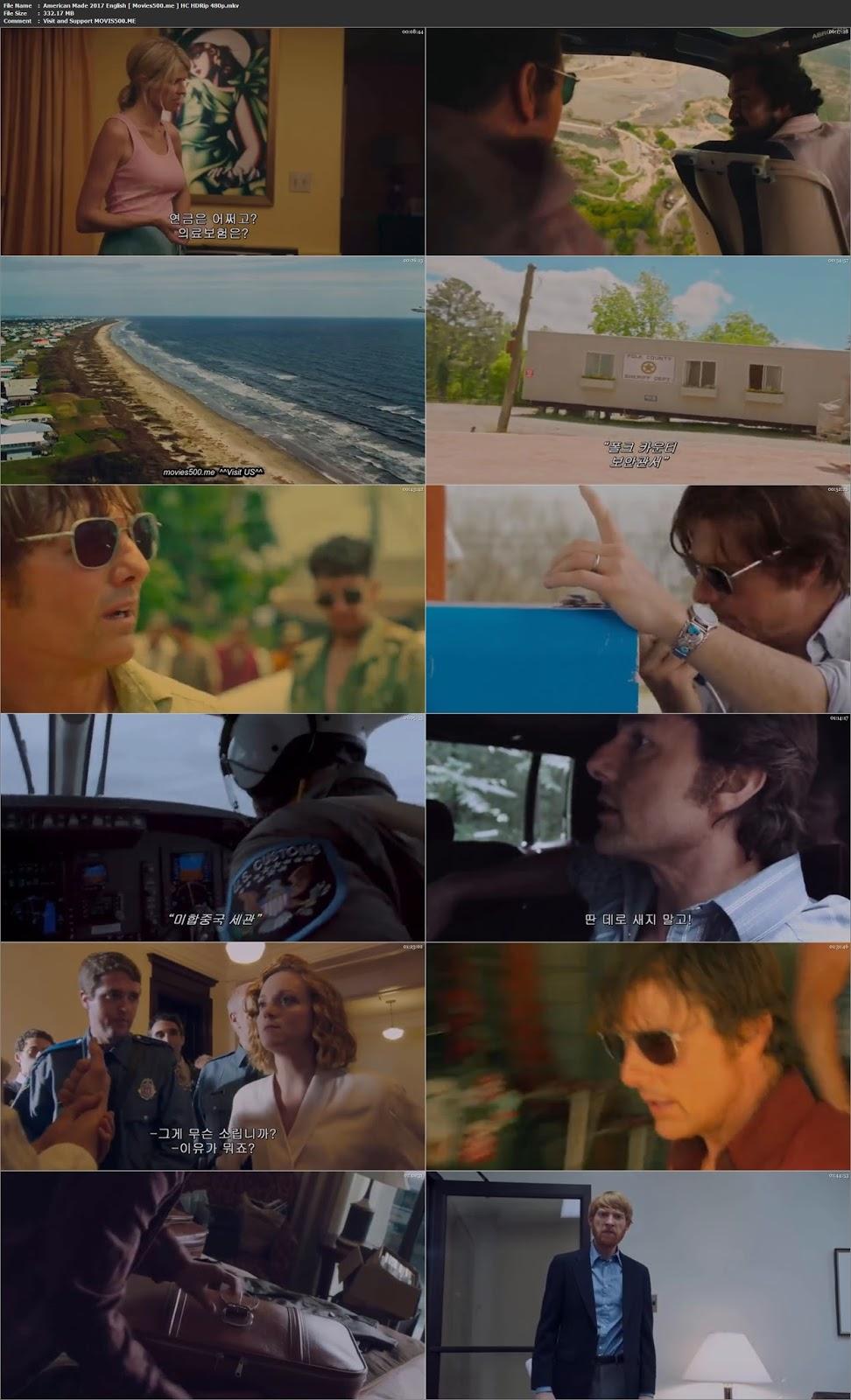 American Made 2017 Hollywood Full Movie 300MB HDRip 480p