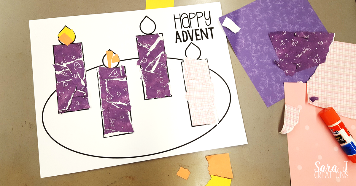 Printable Advent Wreath Craft Is Perfect For Kids To Make Prepare Christmas