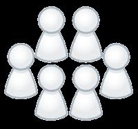 グループのイラスト(白)