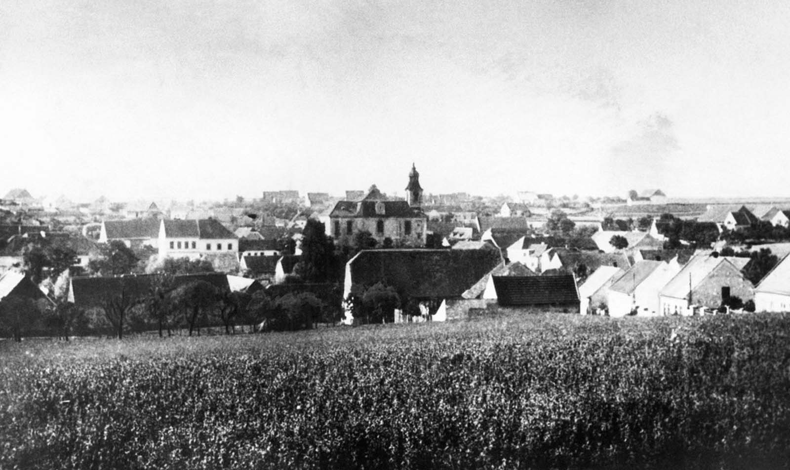 The village of Lidice, Czechoslovakia, before it was burned the ground by the Germans in 1942. On May 27, 1942, a high-ranking Nazi official named Reinhard Heydrich was assassinated, and soon after, Adolf Hitler himself reportedly ordered that any village found harboring the assassins should be leveled, all male residents executed, females shipped off to concentration camps, and acceptable children given to German families. The village of Lidice, reportedly home to Czech resistance fighters, was chosen, and Hitler's orders were carried out starting on June 10, 1942, when all 192 men over 16 years of age were executed.
