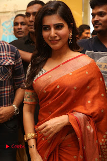 Actress Samantha Pictures in Saree at South India Shoping Mall Launch 0247