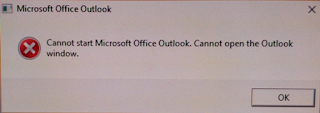 Error cannot start microsoft outlook
