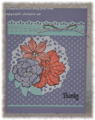 Garden, Stampin' Up!, Stamp with Trude, floral, spring, Greeting card