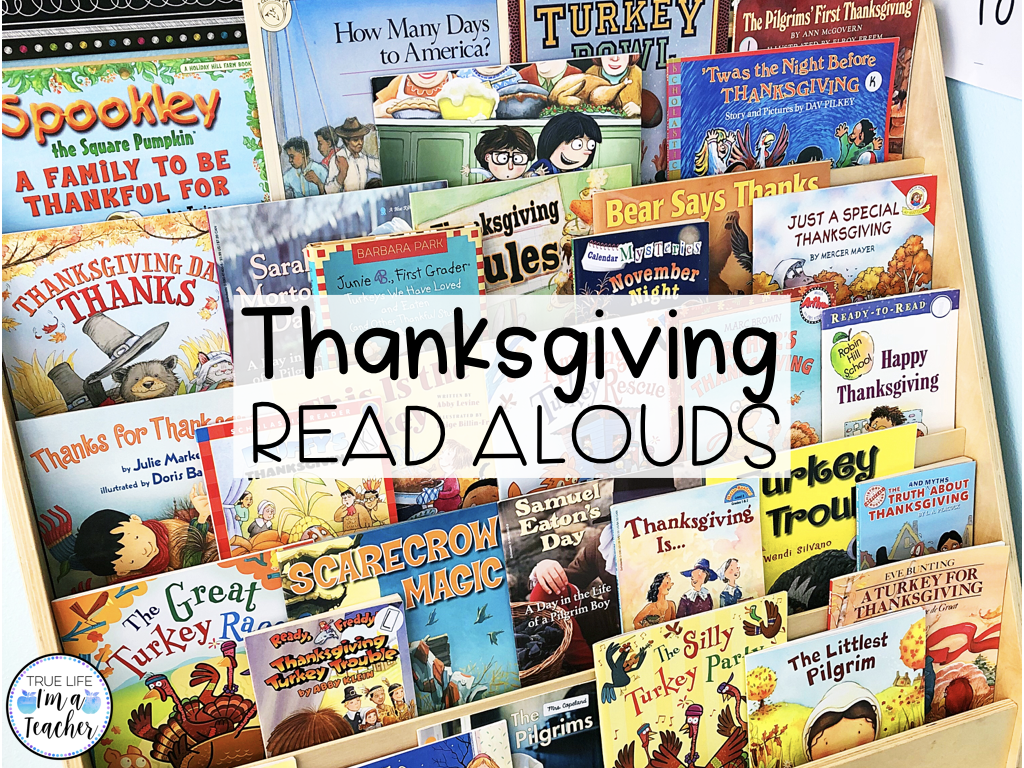 List of 26 Thanksgiving read alouds perfect for 1st - 3rd graders