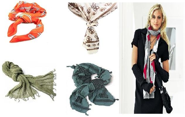 Gambar Model melipat scarf yang cantik dan menarik