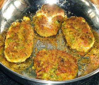 frying the cutlets