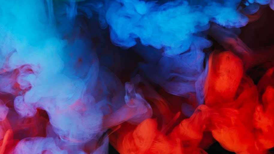 Blue, Red, Smoke, Abstract, 4K, #53