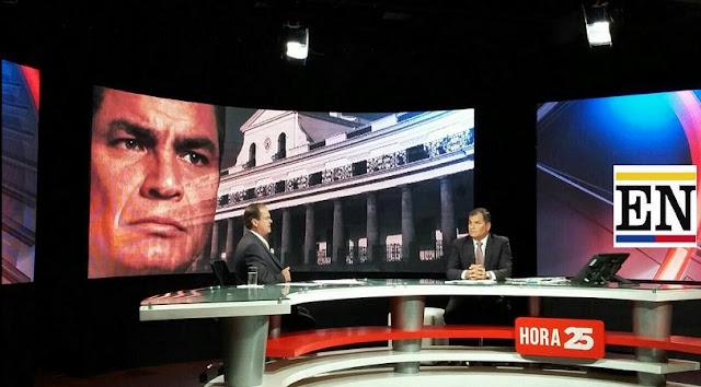 Rafael Correa en Teleamazonas entrevista