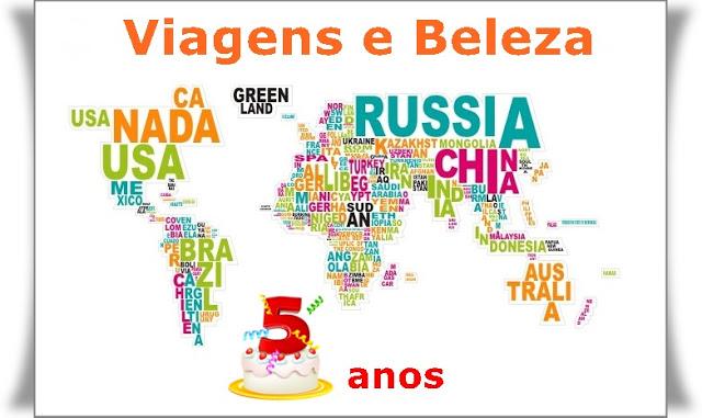 5º Aniversário do blog Viagens e Beleza