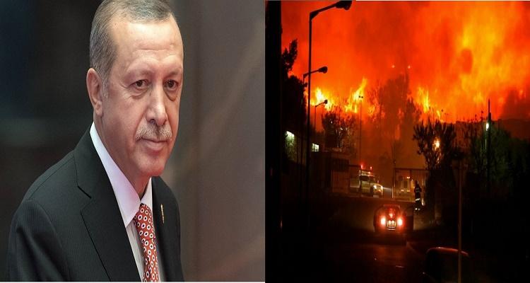 قرار صادم من أردوغان بعد إنتشار الحرائق في إسرائيل