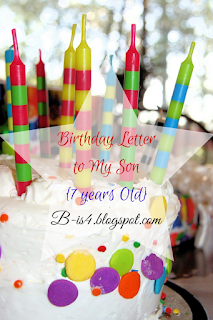 Birthday Letter to My Son