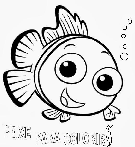 desenhos para pintar desenhos de peixes para colorir online
