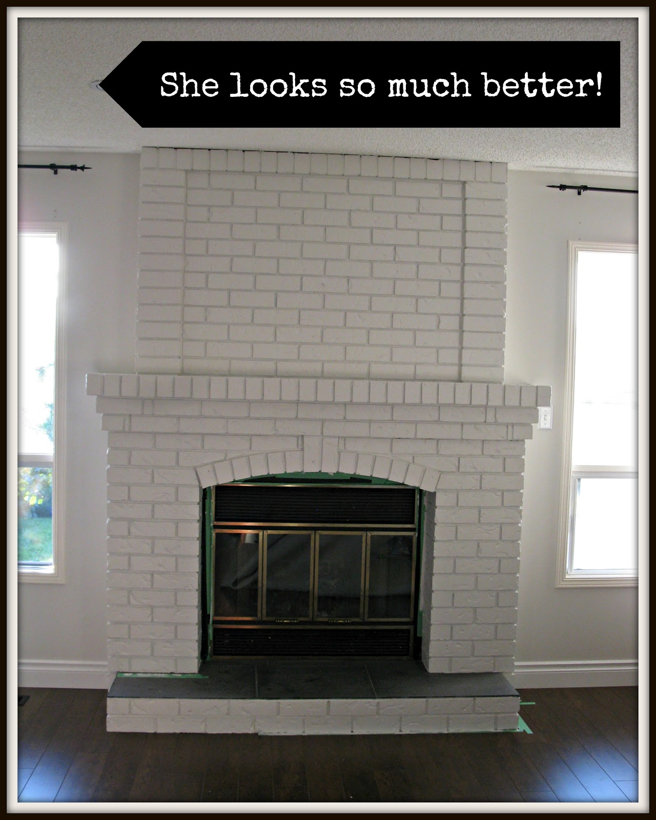 Creating Domestic Bliss: White Fireplace