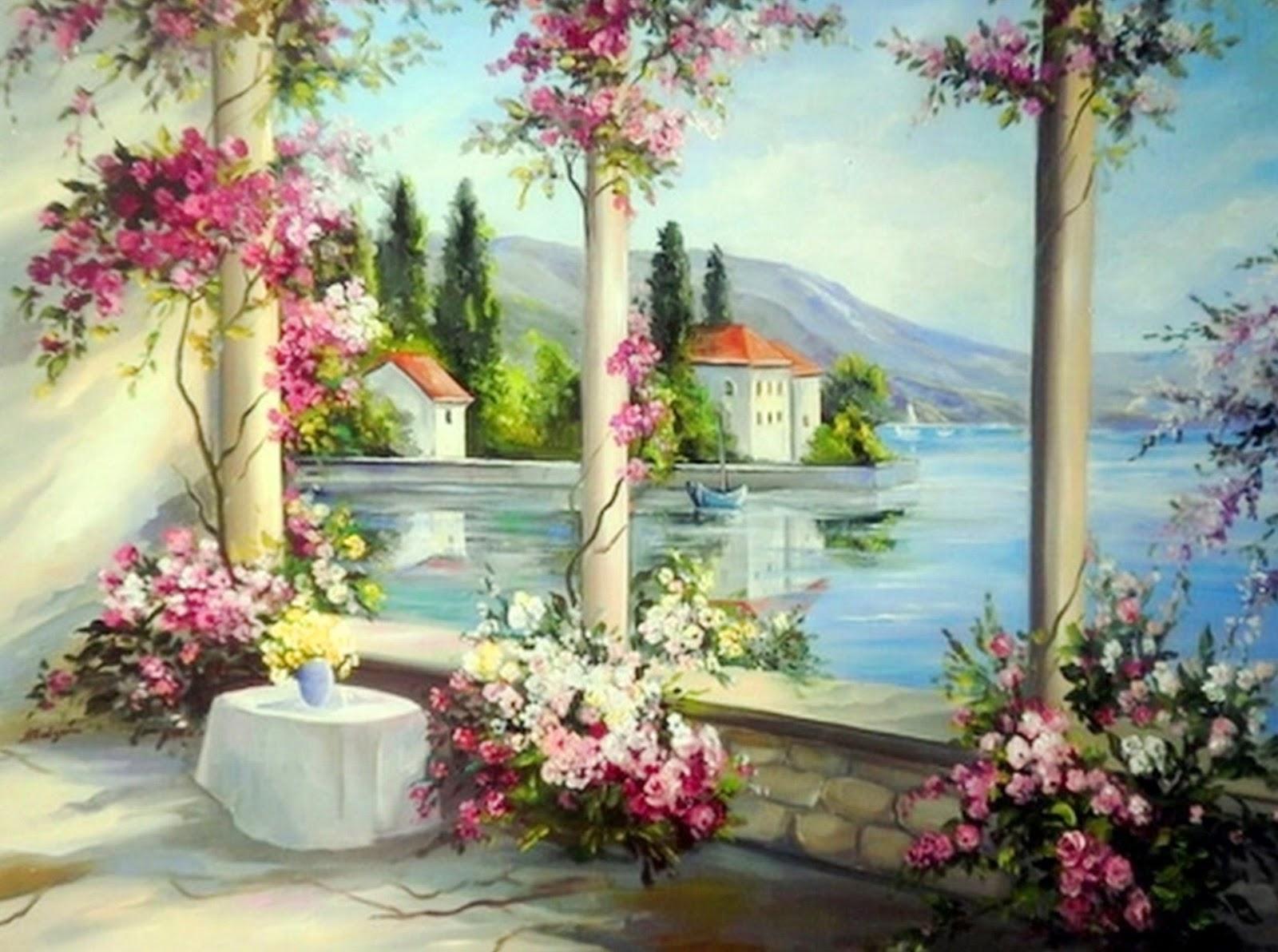 Cuadros modernos pinturas y dibujos paisajes al leo de - Cuadros muy bonitos ...