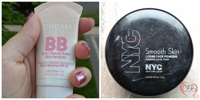 Maybelline Dream Fresh 8-in-1 Beauty Balm in Light Sheer Tint and NYC Smooth Skin Loose Face Powder in Translucent