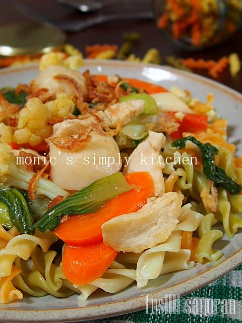 resep pasta fusilli sayuran