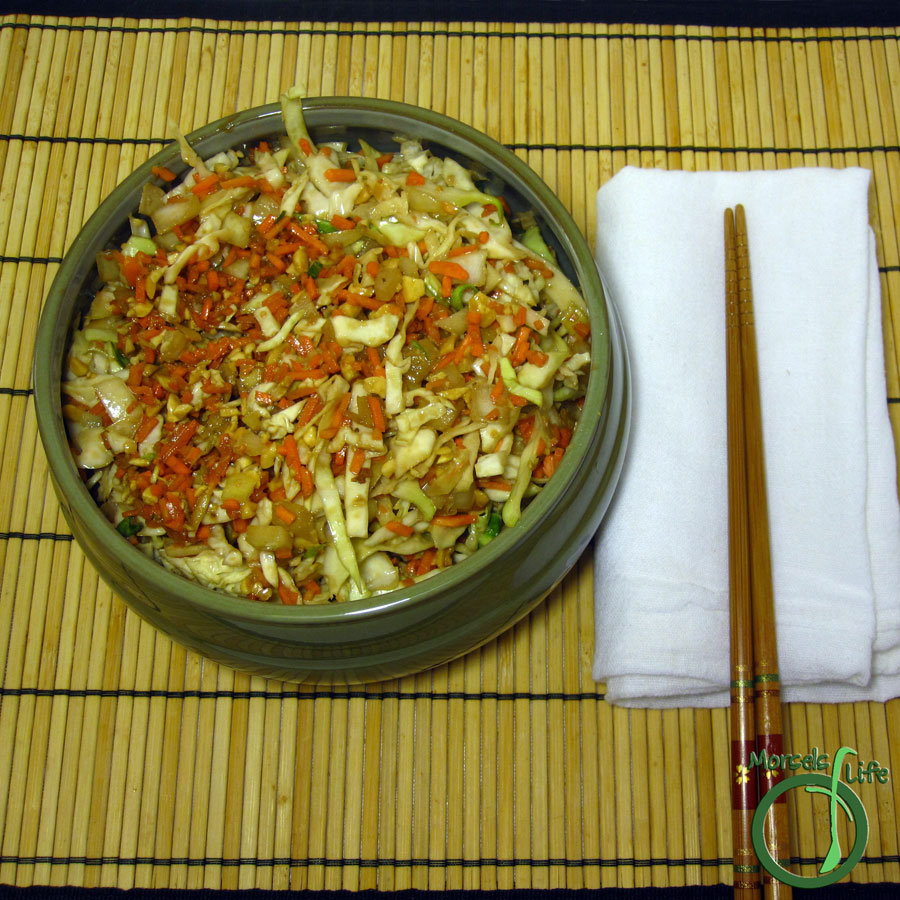 Morsels of Life - Asian Cole Slaw - An Asian inspired cole slaw with peanuts, ginger, lime, and soy sauce flavorings.