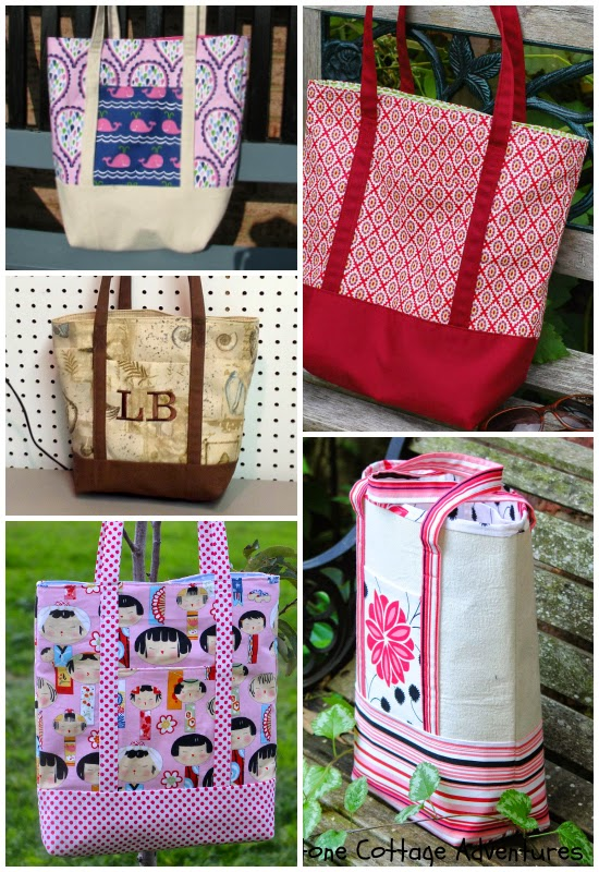 Fabulous Lined Canvas Totes -- great sewing showcase, click for more! | The Inspired Wren