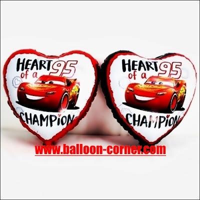 Balon Foil Hati Cars / Foil Love Cars