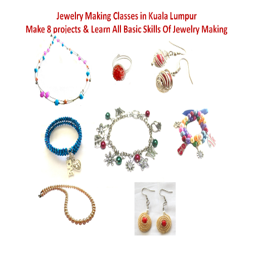 Jewelry Making & Beading Class For Beginners: Start a hobby or Jewellery Business: learn 8 jewelry projects covering Wire Jewelry, Stringing, Beading techniques