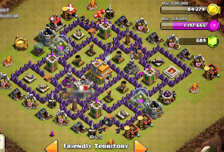 Base WAR TH 7 COC Anti Serangan Dragon [Naga]