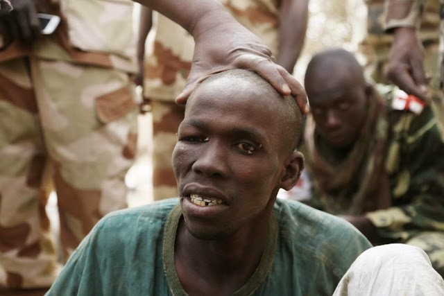 "Exclusive Photos: Suspected Members of Boko Haram, including ""The Butcher""  Captured By Chadian Military"