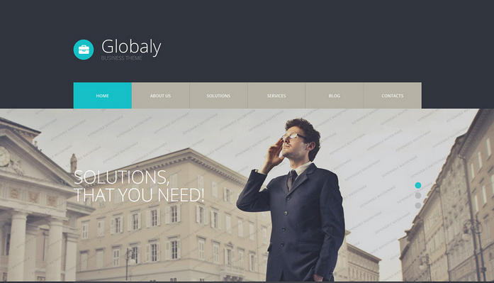 Globaly Free WordPress Business Theme