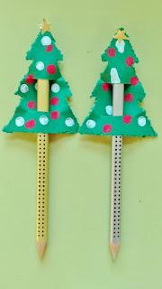 decorazione natalizia per matite