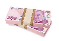 200 TL Türk Lirası Para, 1 Deste, 200 Nakit Banknot Kağıt Para