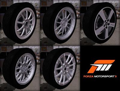 Pack de rodas convertidas do Forza 3 para GTA San Andreas