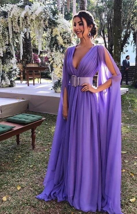 vestido de festa lavanda