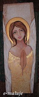 Złocisty Anioł Stróż na Piękne Święta :)