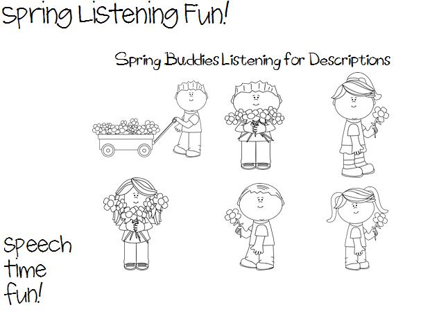 Spring Listening Fun! - Speech Time Fun: Speech and Language