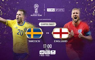 بث مباشر مباراة انجلترا ضد السويد اونلاين اليوم 7-7-2018 رابط الاسطورة لعبه انجلترا والسويد يوتيوب