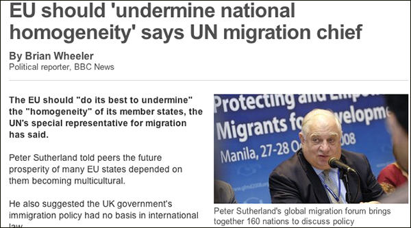 EU should 'undermine national homogeneity' says UN migration chief