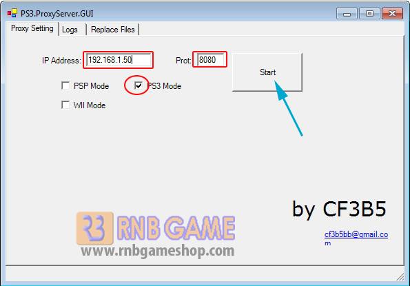 Ps3 proxy server ofw