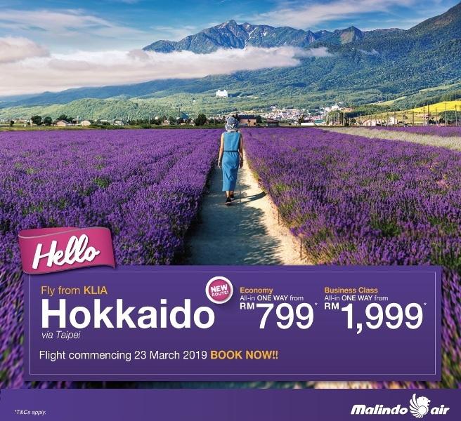 malindo air hokkaido promotional fares