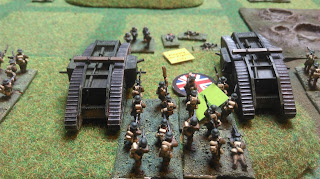 The British tanks and infactry capture another objective