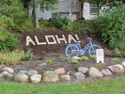 Aloha Michigan town garden