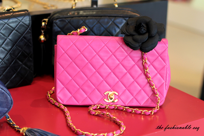 quilted chanel pink camelia